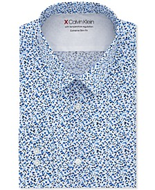 Men's Extra-Slim Fit Performance Stretch Empire Print Dress Shirt