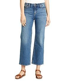 Eyes-On Wide-Leg Cropped Jean