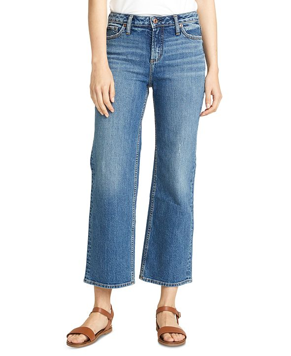 Silver Jeans Co. Eyes-On Wide-Leg Cropped Jean