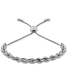 Rope Bolo Bracelet in Sterling Silver, Created for Macy's