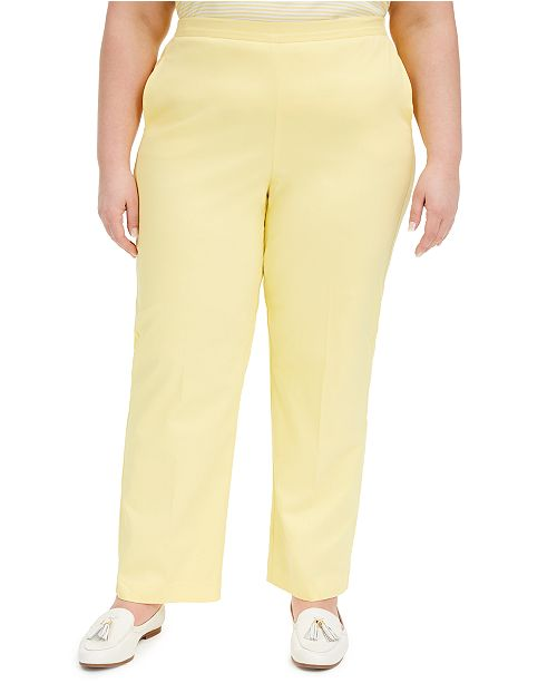 Alfred Dunner Plus Size Spring Lake Pull-On Pants