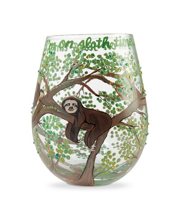 Enesco LOLITA Sloth Time Stemless Wine Glass