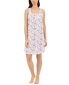 Cotton Sleeveless Sleep Shirt Nightgown, Created for Macy's
