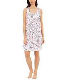 Cotton Sleeveless Sleep Shirt Nightgown, Created for Macy's