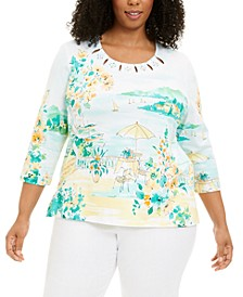 Plus Size Graphic Top