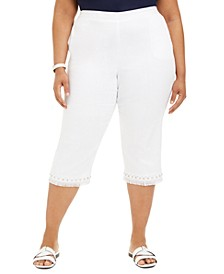 Plus Size Embellished Capris