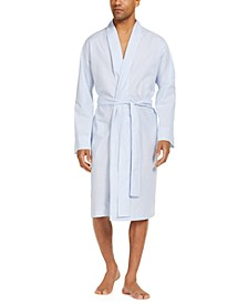 Men's Printed Cotton Robe, Created for Macy's
