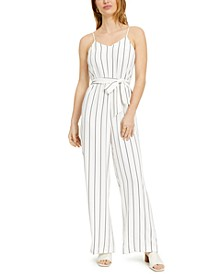 Sleeveless Striped Jumpsuit, Created for Macy's