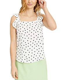Dot-Print Ruffled Woven Top, Created for Macy's