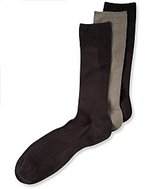 Perry Ellis Men's 3-Pk. C-Fit Non-Binding Comfort Crew Socks
