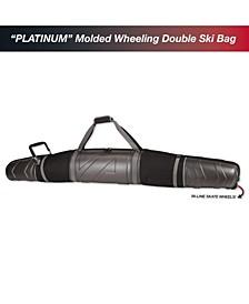 Molded Wheeling Double Ski Bag
