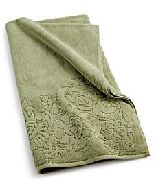"""Sculpted Floral Cotton 30"""" x 54"""" Bath Towel"""