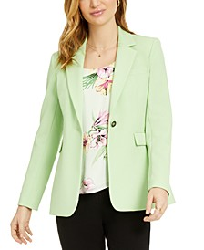 One-Button Notch-Collar Jacket, Created for Macy's