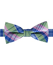 Big Boys Pre-Tied Pastel Plaid Bow Tie