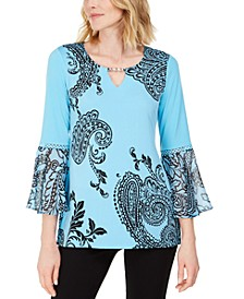 Petite Paisley Falls Tunic, Created for Macy's