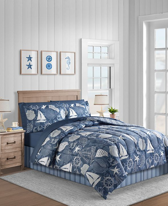 Fairfield Square Collection Seashell 8-Pc. California King Comforter Set