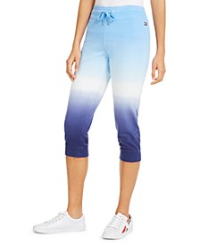 Cotton Ombré Cropped Joggers
