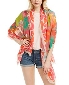 Tropical Floral Oblong Wrap