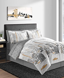 New York 8-Pc. Full Comforter Set