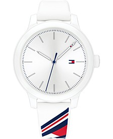 Women's White Silicone Strap Watch 38mm, Created for Macy's