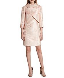 Metallic-Floral Dress Suit