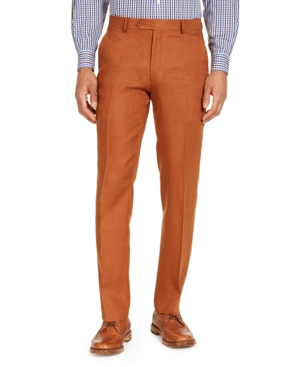 Tommy Hilfiger Pants MEN'S CLASSIC-FIT RUST SUIT SEPARATE PANTS