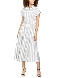 Striped Gauze Shirtdress