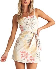 Juniors' Island Hopper Sarong Dress