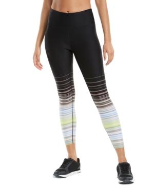 Calvin Klein Performance Printed High-waist Leggings In Sunset Stripe Moonrock Combo