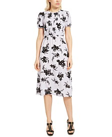 Pintuck-Front Dress
