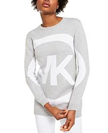 Cotton Circle-Logo Sweater
