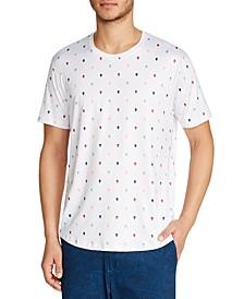 Men's Slim-Fit Stretch Skull Print Short Sleeve T-Shirt