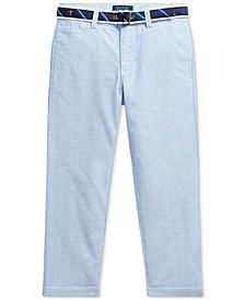 폴로 랄프로렌 남아용 바지 Polo Ralph Lauren Little Boys Belted Oxford Skinny Pants,Bsr Blue
