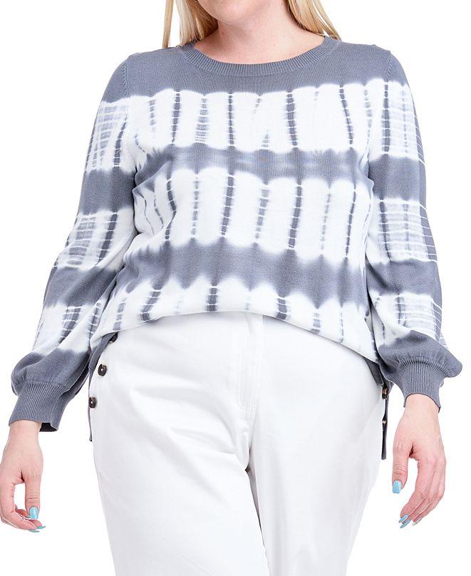 Fever Plus Size Tie-Dye Sweater