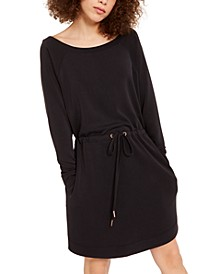 INC EARTH Off-The-Shoulder Sweatshirt Mini Dress, Created for Macy's