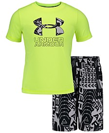 Toddler & Little Boys Big Boys 2-Pc. Rash Guard Set