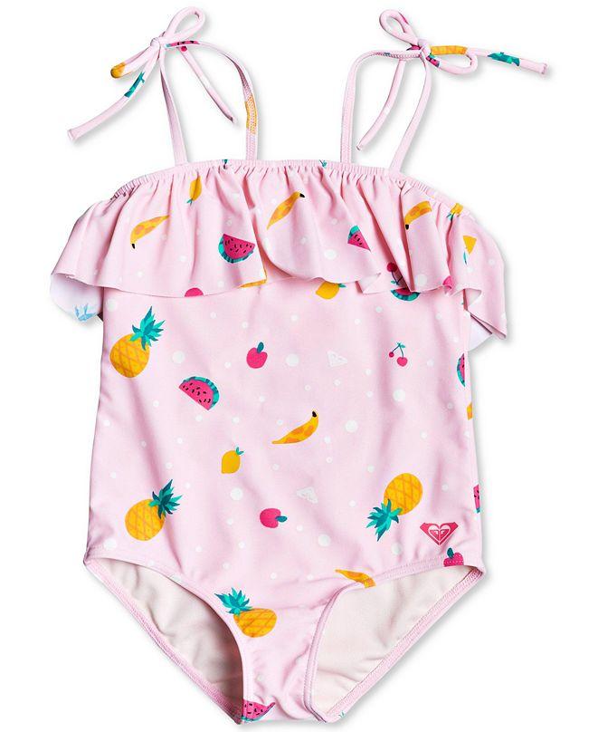 Roxy 1-Pc. Toddler & Little Girls Lovely Aloha Swimsuit