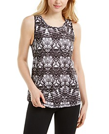 Abstract-Print Mesh Back Tank Top, Created for Macy's