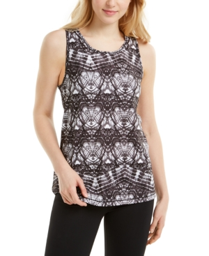 Ideology Abstract-Print Mesh Back Tank Top, Created for Macy's