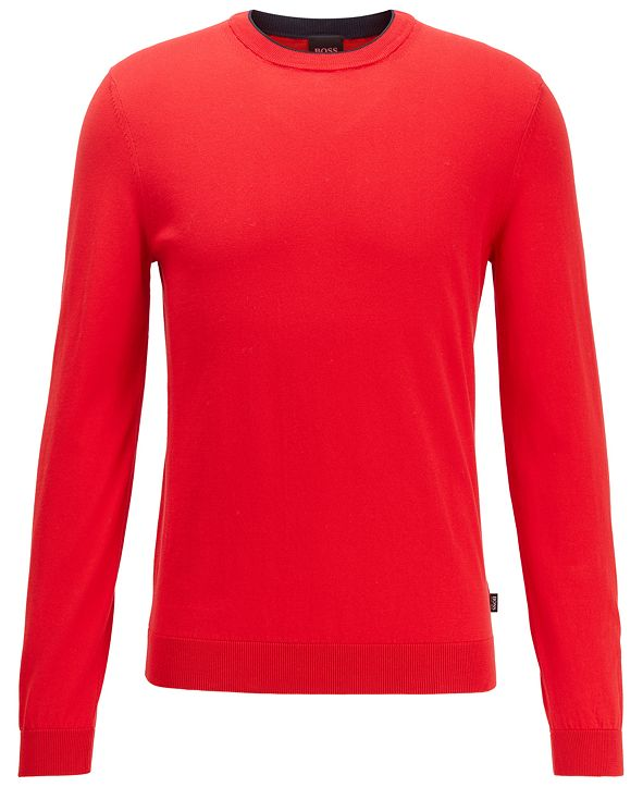 Hugo Boss BOSS Men's Fabello Medium Red Sweater