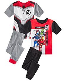 Little & Big Boys 4-Pc. Avengers Pajama Set