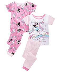 Toddler Girls 4-Pc. Minnie Mouse Pajama Set
