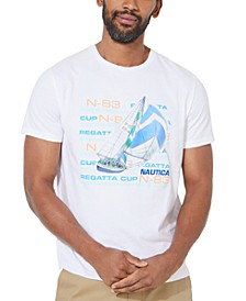 Men's Sailboat Regatta Cup Graphic T-Shirt