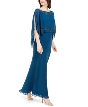 70s Prom, Formal, Evening, Party Dresses J Kara Embellished Gown $134.50 AT vintagedancer.com
