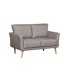 Jayne Modern Fabric Loveseat