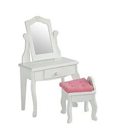 Little Princess Vanity Table and Stool Set