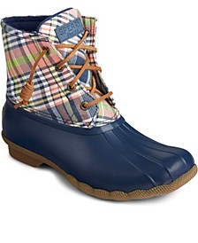 Saltwater Washed Plaid Boot