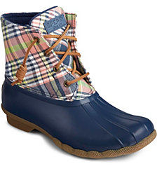 Sperry Saltwater Washed Plaid Boot