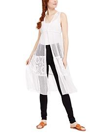 Juniors' Lace Kimono Top