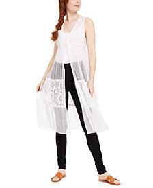 Self Esteem Juniors' Lace Kimono Top